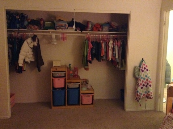 "The closet and ""toy bin"""